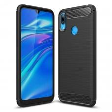 "Lankstus Tpu Dėklas ""Carbon Case Flexible"" Huawei Y7 2019 / Y7 Prime 2019 Juodas"