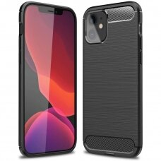 Carbon Case Flexible TPU dėklas iPhone 12 Mini juodas