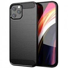 Dėklas Carbon Case Flexible Iphone 12 Pro Max Juodas