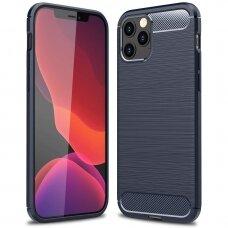 Dėklas Carbon Case Flexible Iphone 12 Pro Max Mėlynas