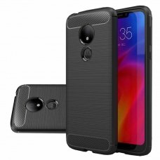 "LANKSTUS TPU DĖKLAS ""CARBON CASE FLEXIBLE"" MOTOROLA MOTO G7 POWER JUODAS AB208"