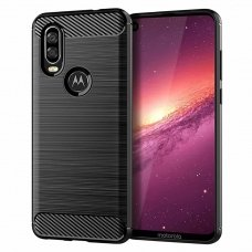 "LANKSTUS TPU DĖKLAS ""CARBON CASE FLEXIBLE"" MOTOROLA ONE ACTION JUODAS AB208"
