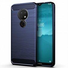 "TPU Dėklas ""Carbon Case Flexible"" Nokia 7.2 / Nokia 6.2 mėlynas (gaq39)"