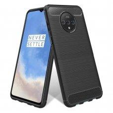 "TPU Dėklas ""Carbon Case Flexible"" OnePlus 7T juodas (flq40)"
