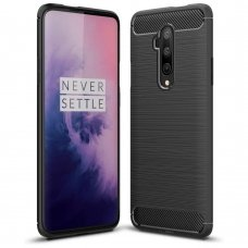 "TPU Dėklas ""Carbon Case Flexible"" OnePlus 7T Pro juodas (flq40)"