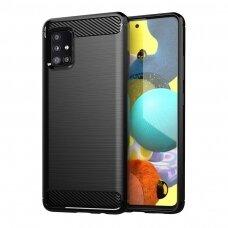 Dėklas Carbon Case Flexible Samsung Galaxy A31 juodas