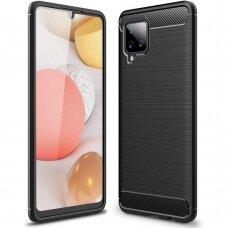Dėklas Carbon Case TPU Case Samsung Galaxy A42 5G Juodas
