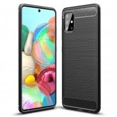 "TPU Dėklas ""Carbon Case Flexible"" Samsung Galaxy A51 juodas (lop20)"