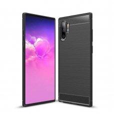 """Lankstus Tpu Dėklas """"Carbon Case Flexible"""" Samsung Galaxy Note 10 Plus Juodas"""