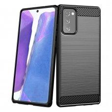 Dėklas Carbon Case Flexible Samsung Galaxy Note 20 Juodas