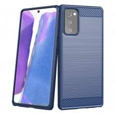 Dėklas Carbon Case Flexible Samsung Galaxy Note 20 Mėlynas
