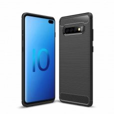 "LANKSTUS TPU DĖKLAS ""CARBON CASE FLEXIBLE"" SAMSUNG GALAXY S10 PLUS JUODAS"