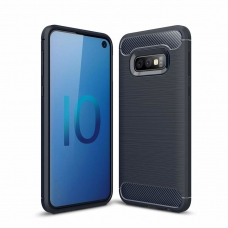 "Lankstus Tpu Dėklas ""Carbon Case Flexible"" Samsung Galaxy S10E Mėlynas"