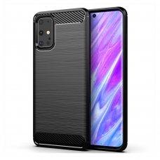 "TPU Dėklas ""Carbon Case Flexible"" Samsung Galaxy S20 juodas (lqn04) UCS003"
