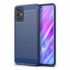 "TPU Dėklas ""Carbon Case Flexible"" Samsung Galaxy S20 mėlynas (lqn04) UCS003"