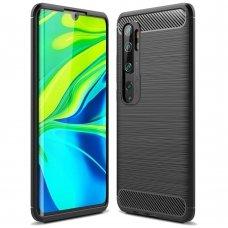 "TPU Dėklas ""Carbon Case Flexible"" Xiaomi Mi Note 10 / Mi Note 10 Pro / Mi CC9 Pro juodas (goe85) UCS103"