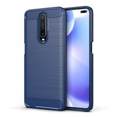 "TPU Dėklas ""Carbon Case Flexible"" Xiaomi redmi K30 mėlynas (qma48) UCS140"