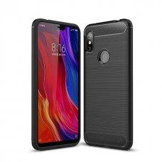 """Lankstus Tpu Dėklas """"Carbon Case Flexible"""" Xiaomi Redmi Note 6 Pro Juodas"""