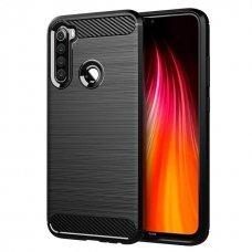 """TPU Dėklas """"Carbon Case Flexible"""" Xiaomi redmi Note 8T juodas (erw45)"""