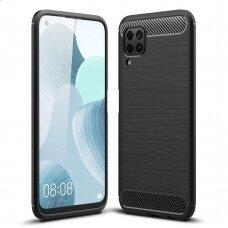 Carbon Case Flexible TPU dėklas Huawei P40 Lite / Nova 7i / Nova 6 SE juodas (ctz012) UCS068