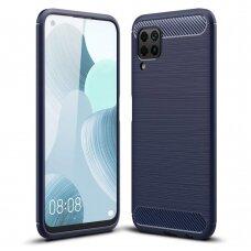 Carbon Case Flexible TPU dėklas Huawei P40 Lite / Nova 7i / Nova 6 SE mėlynas (ctz012) UCS068