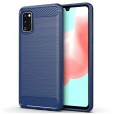 Dėklas Carbon Case Flexible Samsung Galaxy A41 mėlynas