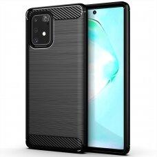 Dėklas Carbon Case Flexible Samsung Galaxy S10 Lite juodas