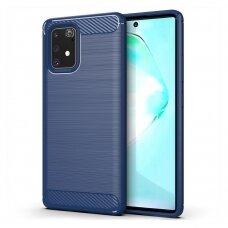Dėklas Carbon Case Flexible Samsung Galaxy S10 Lite mėlynas