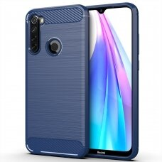 Carbon Case Flexible TPU dėklas Xiaomi mi Note 8T mėlynas (ctz011)