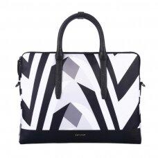 Cartinoe Prevalent Series Plus 13,3'' inch Splash-proof Polyester Laptop Pouch Handbag black-white