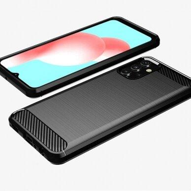 Dėklas Carbon Case Flexible Cover TPU Samsung Galaxy A32 4G Juodas 2