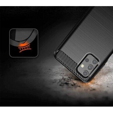Dėklas Carbon Case Flexible Cover TPU Samsung Galaxy A32 4G Juodas 4