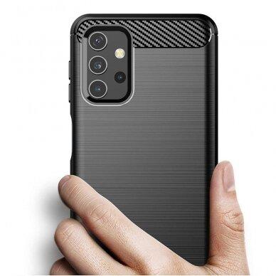 Dėklas Carbon Case Flexible Cover TPU Samsung Galaxy A32 4G Juodas 6