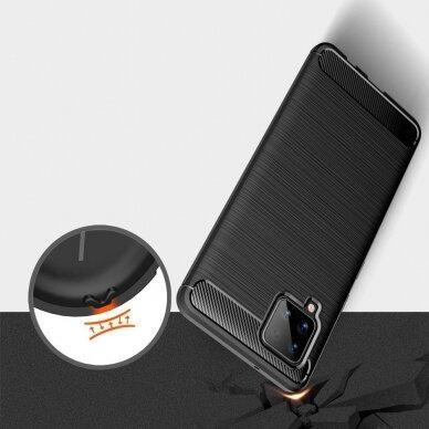 Dėklas Carbon Case TPU Case Samsung Galaxy A42 5G Tamsiai mėlynas 5