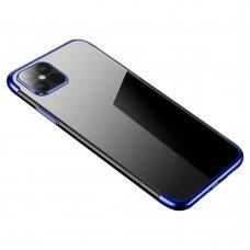 Skaidrus Dėklas Su Spalvotu Rėmeliu 'Tpu Electroplating' Iphone 12 / 12 Pro Mėlynas