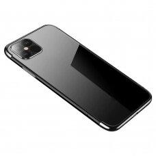 Skaidrus Dėklas Su Spalvotu Rėmeliu 'Tpu Electroplating' Iphone 12 Pro Max Juodas