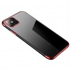 Skaidrus Dėklas Su Spalvotu Rėmeliu 'Tpu Electroplating' Iphone 12 Pro Max Raudonas