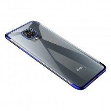 Skaidrus Dėklas Su Spalvotu Rėmeliu Tpu Electroplating Xiaomi Redmi 10X 4G / Xiaomi Redmi Note 9 Mėlynas