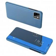 Clear View Case Atverčiamas Dėklas Huawei Y5P Mėlynas