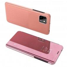 Clear View Case Atverčiamas Dėklas Huawei Y5P Rožinis
