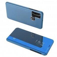 Mėlynas 'Clear View'  Veidrodiniu-Permatomu Priekiniu Dangteliu Atverčiamas Dėklas  Huawei Y6P