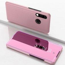 """Atverčiamas Plastikinis Dėklas """"Sview"""" Huawei Y7 2019 / Y7 Prime 2019 Rožinis"""
