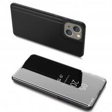 Atverčiamas dėklas Clear View Case iPhone 13 mini Juodas