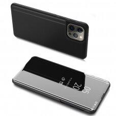 Atverčiamas dėklas Clear View Case iPhone 13 Pro Max Juodas