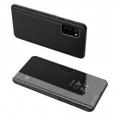 Atverčiamas dėklas Clear View Case Samsung Galaxy A02s juoda