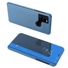 Atverčiamas dėklas Clear View Case cover for Samsung Galaxy A12s Mėlynas