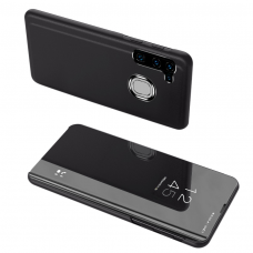 Clear View Case dėklas Samsung Galaxy A21S juodas UCS027