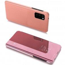 Atverčiamas dėklas Clear View Case cover Samsung Galaxy A32 4G Rožinis