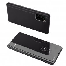 Atverčiamas dėklas Clear View Case cover for Samsung Galaxy A52 5G Juodas