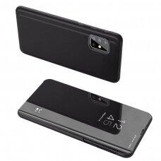 Atverčiamas plastikinis dėklas Clear View Case Cover For Samsung Galaxy M31S Juodas